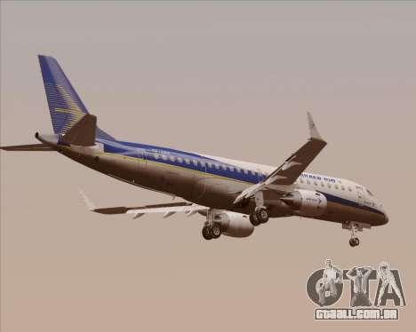 Embraer E-190-200LR House Livery para GTA San Andreas vista traseira