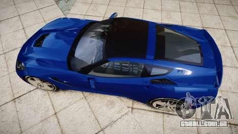 Chevrolet Corvette C7 Stingray 2014 v2.0 TireYA3 para GTA 4 vista direita
