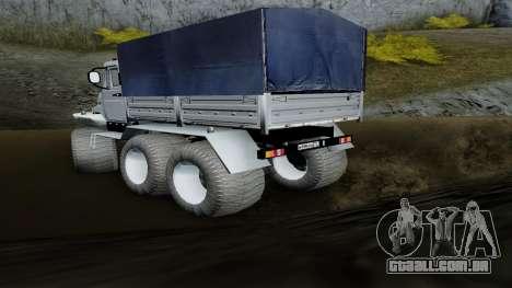 ZIL Kerzhak 6x6 para GTA San Andreas esquerda vista