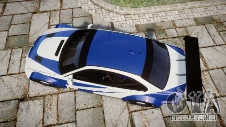 BMW M3 E46 GTR Most Wanted plate NFS Pro Street para GTA 4 vista direita