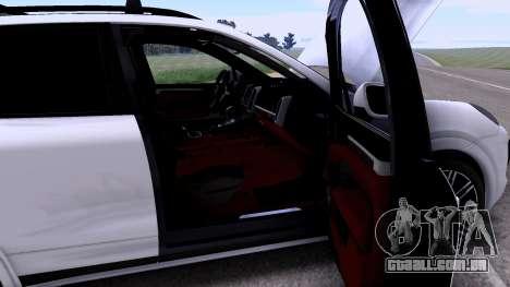 Porsche Cayenne Turbo S GTS 2015 para GTA San Andreas vista traseira