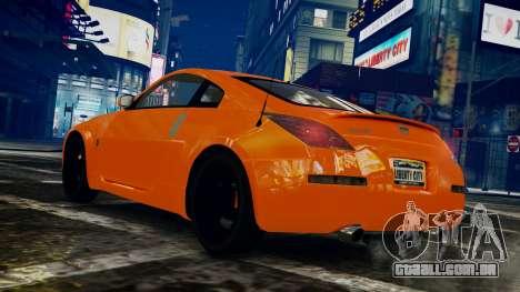 Nissan 350Z para GTA 4 esquerda vista