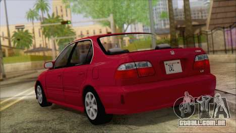 Honda Civic 2000 para GTA San Andreas esquerda vista