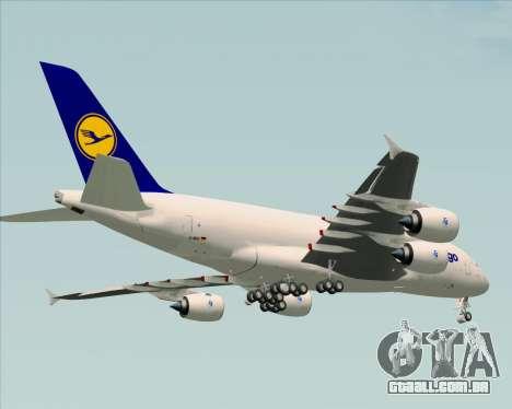 Airbus A380-800F Lufthansa Cargo para GTA San Andreas vista inferior