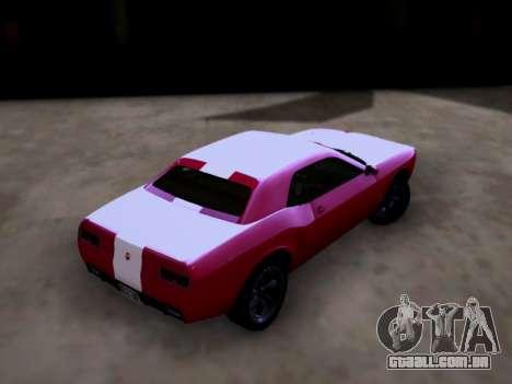 Bravado Gauntlet GTA 5 para GTA San Andreas esquerda vista