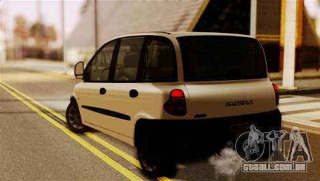 Fiat Multipla Black Bumpers para GTA San Andreas esquerda vista