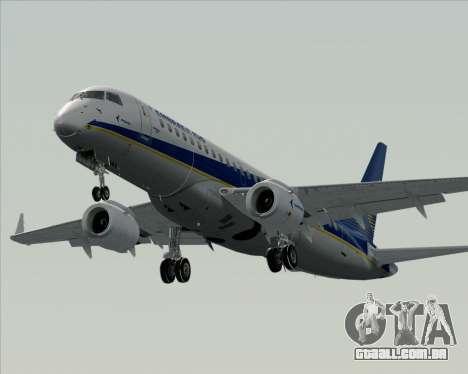 Embraer E-190-200LR House Livery para GTA San Andreas vista inferior