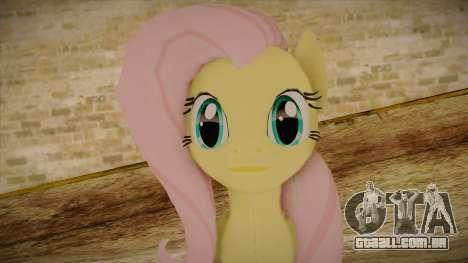 Fluttershy from My Little Pony para GTA San Andreas terceira tela