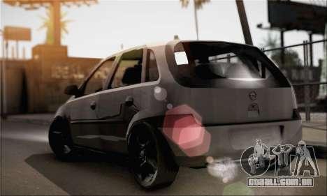 Opel Corsa 5-Doors para GTA San Andreas esquerda vista