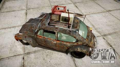 Volkswagen Beetle rust para GTA 4 vista direita