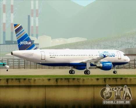 Airbus A320-200 JetBlue Airways para as rodas de GTA San Andreas