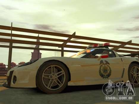 Chevrolet Corvette Z06 Police para GTA 4 vista lateral