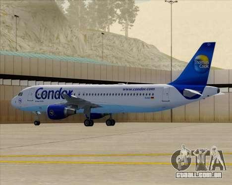 Airbus A320-200 Condor para GTA San Andreas vista superior