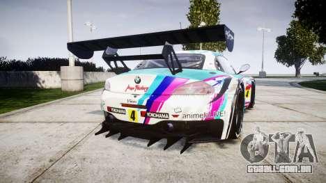 BMW Z4 GT3 2014 Goodsmile Racing para GTA 4 traseira esquerda vista