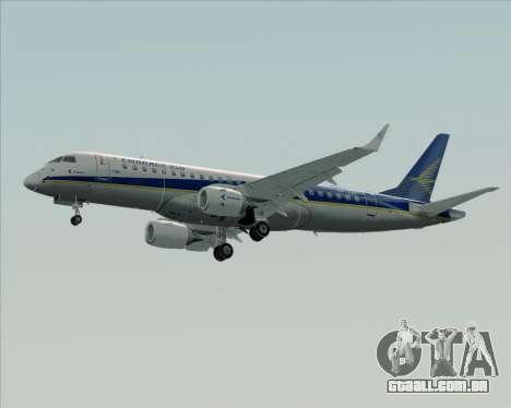 Embraer E-190-200LR House Livery para GTA San Andreas traseira esquerda vista