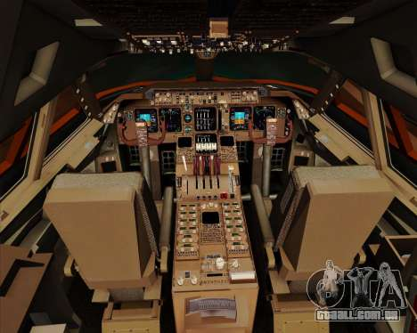 Boeing 747-100 Trans World Airlines (TWA) para GTA San Andreas interior