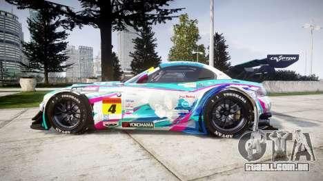 BMW Z4 GT3 2014 Goodsmile Racing para GTA 4 esquerda vista