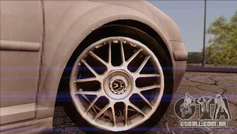 Volkswagen Golf Mk4 GTI para GTA San Andreas traseira esquerda vista