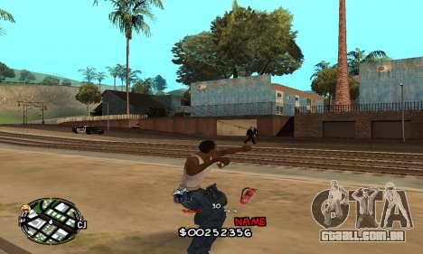 C-HUD by Jackson para GTA San Andreas por diante tela