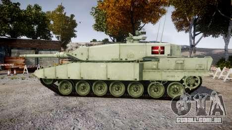 Leopard 2A7 DK Green para GTA 4 esquerda vista