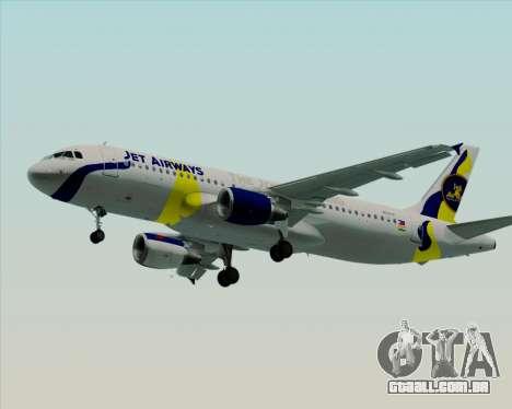 Airbus A320-200 Jet Airways para as rodas de GTA San Andreas