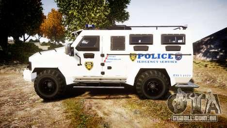 SWAT Van Police Emergency Service para GTA 4 esquerda vista