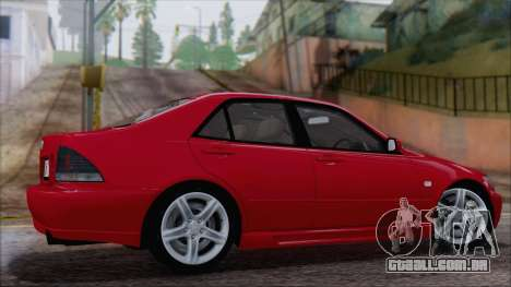 Toyota Altezza (RS200) 2004 (IVF) para GTA San Andreas esquerda vista