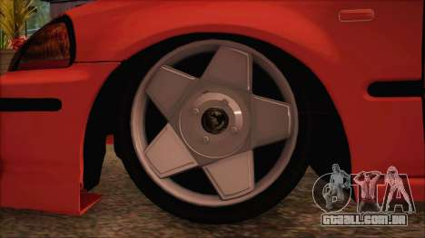 Honda Civic 34 VB 8884 para GTA San Andreas traseira esquerda vista