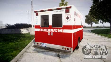 Vapid V-240 Ambulance para GTA 4 traseira esquerda vista