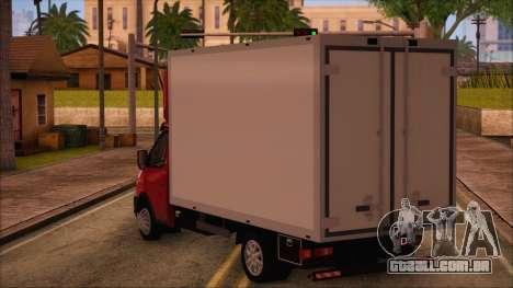 GAZel 3302 Negócios para GTA San Andreas esquerda vista