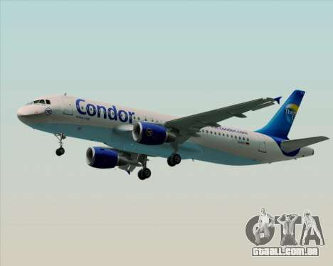Airbus A320-200 Condor para vista lateral GTA San Andreas