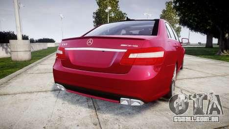 Mercedes-Benz E63 AMG para GTA 4 traseira esquerda vista