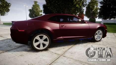 Chevrolet Camaro SS [ELS] Unmarked runners para GTA 4 esquerda vista