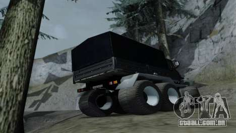 ZIL Kerzhak 6x6 para GTA San Andreas vista direita