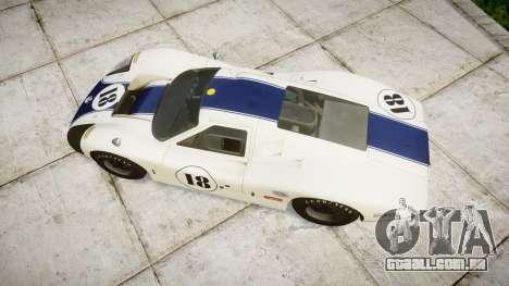 Ford GT40 Mark IV 1967 PJ 18 para GTA 4 vista direita