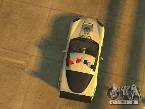 Chevrolet Corvette Z06 Police para GTA 4 vista de volta
