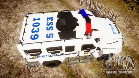 SWAT Van Police Emergency Service para GTA 4 vista direita
