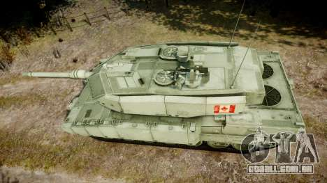 Leopard 2A7 CA Green para GTA 4 vista direita