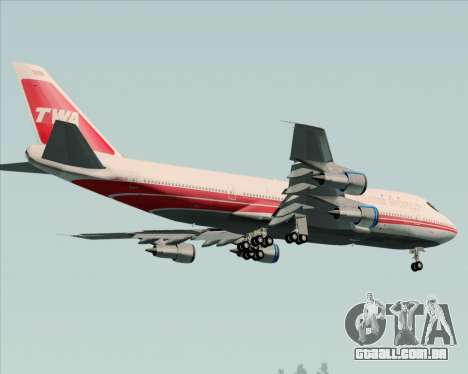 Boeing 747-100 Trans World Airlines (TWA) para as rodas de GTA San Andreas