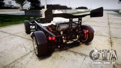 Ariel Atom V8 2010 [RIV] v1.1 FUEA Equipped para GTA 4 traseira esquerda vista