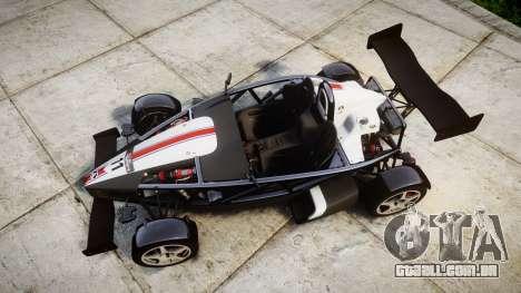 Ariel Atom V8 2010 [RIV] v1.1 FUEA Equipped para GTA 4 vista direita