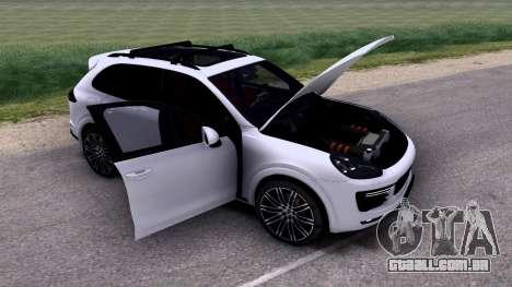 Porsche Cayenne Turbo S GTS 2015 para GTA San Andreas vista interior