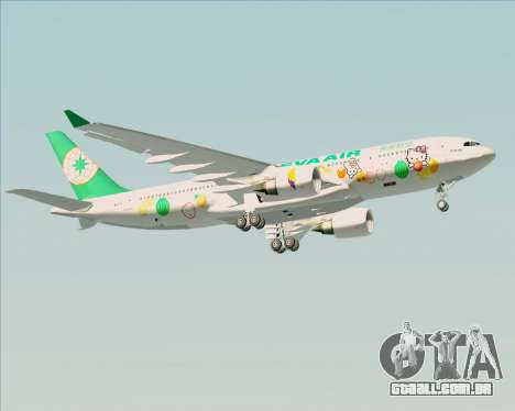 Airbus A330-200 EVA Air (Hello Kitty) para GTA San Andreas vista inferior