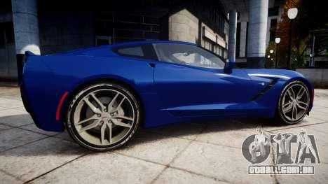 Chevrolet Corvette C7 Stingray 2014 v2.0 TireYA3 para GTA 4 esquerda vista