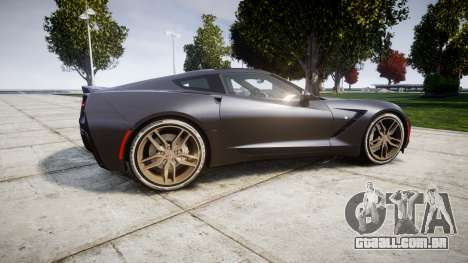 Chevrolet Corvette C7 Stingray 2014 v2.0 TireBr3 para GTA 4 esquerda vista
