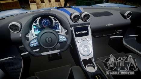 Koenigsegg Agera 2011 [EPM] [Update] para GTA 4 vista de volta