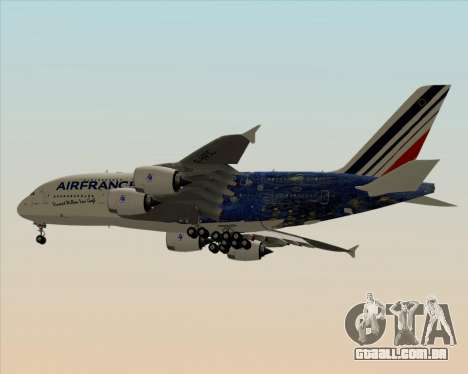Airbus A380-800 Air France para GTA San Andreas vista direita