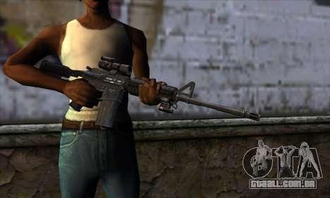 New M4 para GTA San Andreas terceira tela