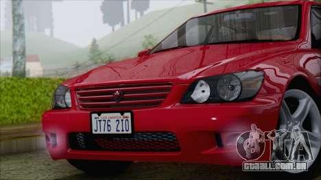 Toyota Altezza (RS200) 2004 (IVF) para GTA San Andreas vista direita