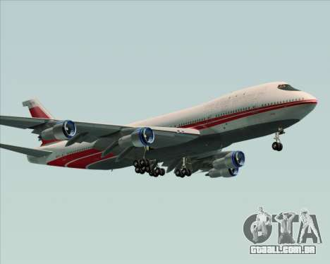 Boeing 747-100 Trans World Airlines (TWA) para GTA San Andreas vista traseira